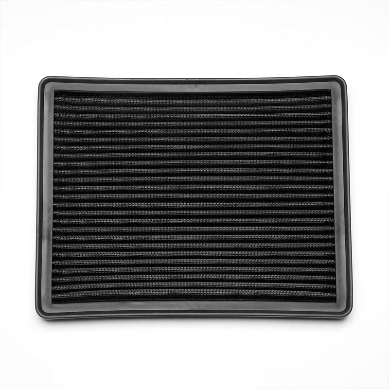 Black High Flow Washable Airbox Drop-In Panel Air Filter For 99-17 Suburban 1500-Performance-BuildFastCar