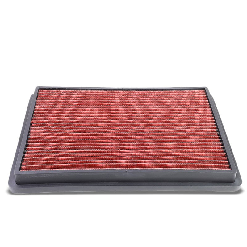 Red High Flow Washable Airbox Drop-In Panel Air Filter For 99-17 sierra 1500-Performance-BuildFastCar