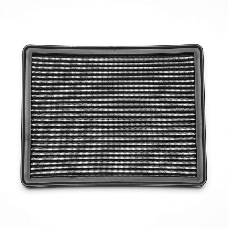Silver High Flow Washable Airbox Drop-In Panel Air Filter For 00-16 Yukon v8-Performance-BuildFastCar