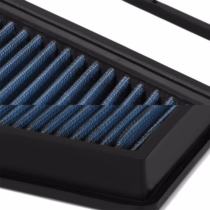 Reusable Blue High Flow Drop-In Panel Air Filter For 10-17 Fiat Doblo 1.4T-Performance-BuildFastCar