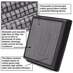 Reusable Silver High Flow Drop-In Panel Air Filter For Non-USDM 08-15 Accord 2.0-Performance-BuildFastCar