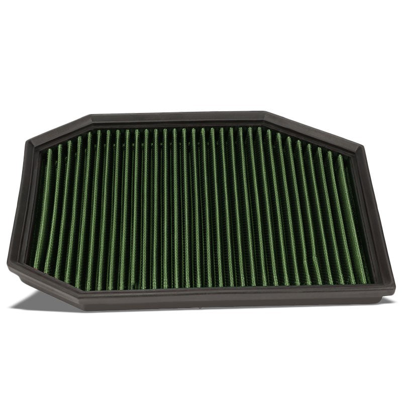 Reusable Green High Flow Drop-In Panel Air Filter For BMW 04-07 E60 5-Series-Performance-BuildFastCar