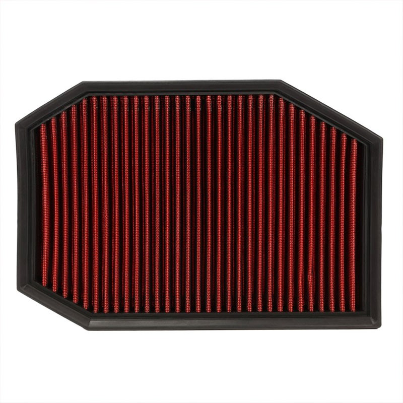 Reusable Red High Flow Drop-In Panel Air Filter For BMW 04-07 E60 5-Series-Performance-BuildFastCar