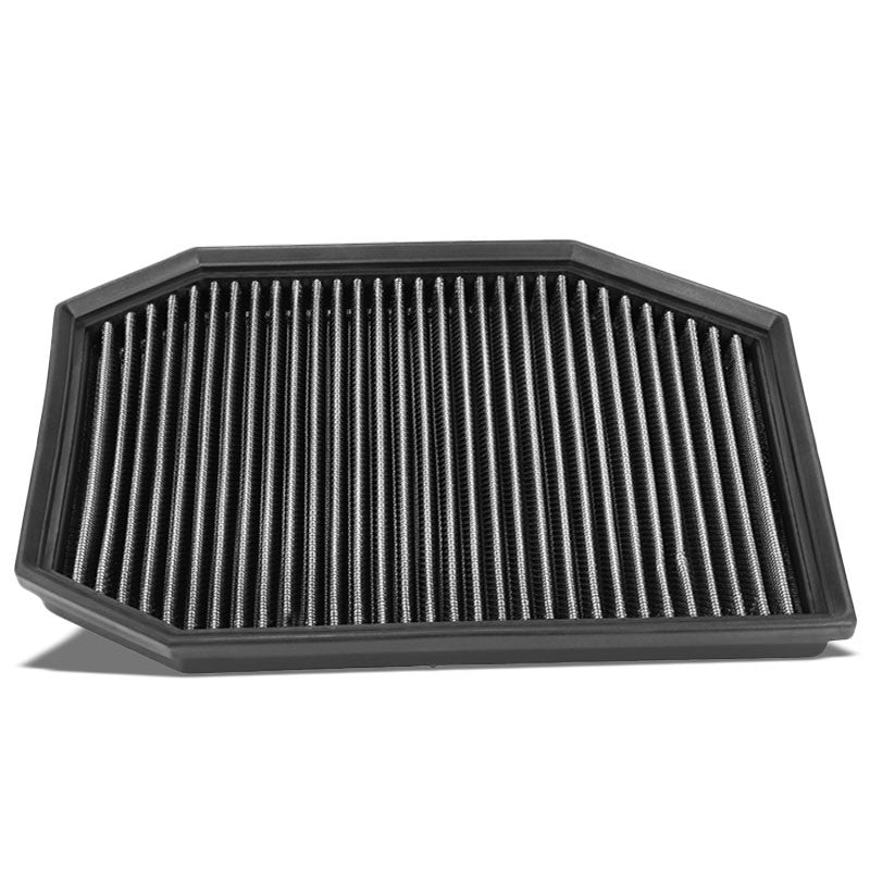 Reusable Silver High Flow Drop-In Panel Air Filter For BMW 04-07 E60 5-Series-Performance-BuildFastCar
