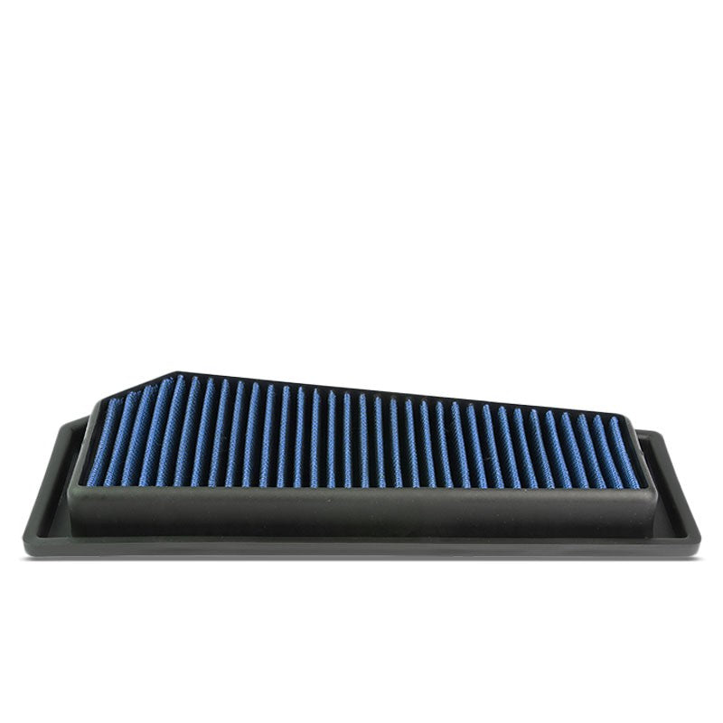 Blue High Flow Washable Drop-In Panel Air Filter For 12-15 C250/SLK250 1.8 Turbo-Performance-BuildFastCar