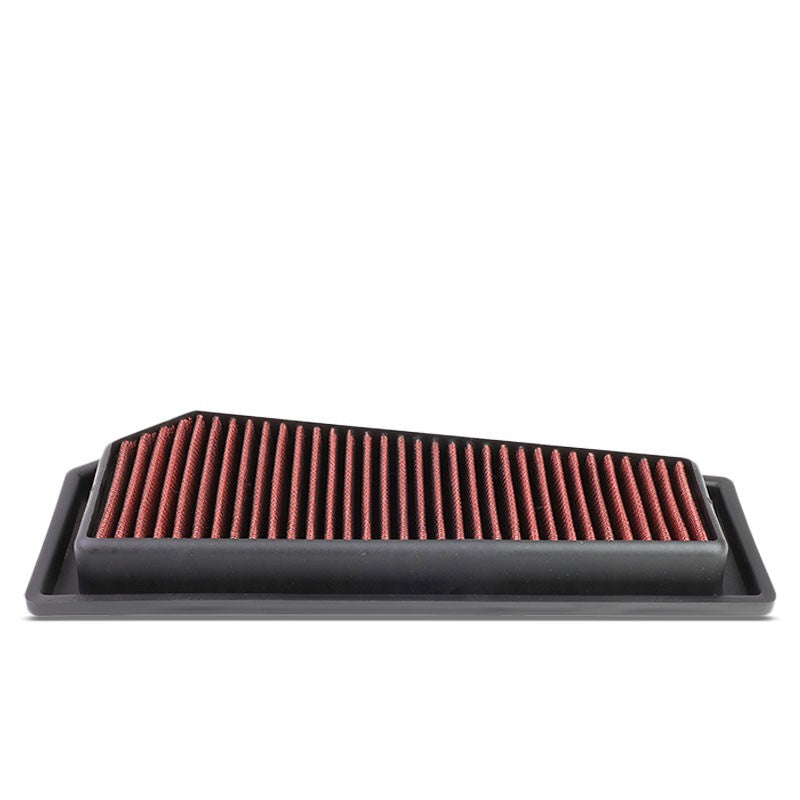 Red High Flow Washable Drop-In Panel Air Filter For 12-15 C250/SLK250 1.8L Turbo-Performance-BuildFastCar