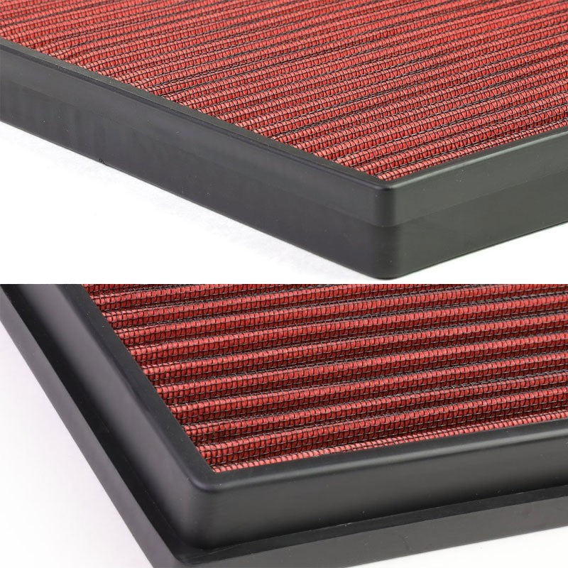 Red High Flow Washable Drop-In Panel Air Filter For Chevy Cruze 1.8L Non Turbo-Performance-BuildFastCar