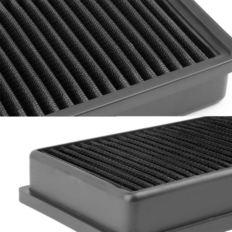 Black High Flow Washable Drop-In Panel Air Filter For Audi 2.0T Turbo Q5/A4/A5-Performance-BuildFastCar
