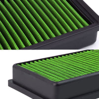 Green High Flow Washable/Reuse OE Drop-In Panel Air Filter For 2.0T Q5/A4/A5-Performance-BuildFastCar