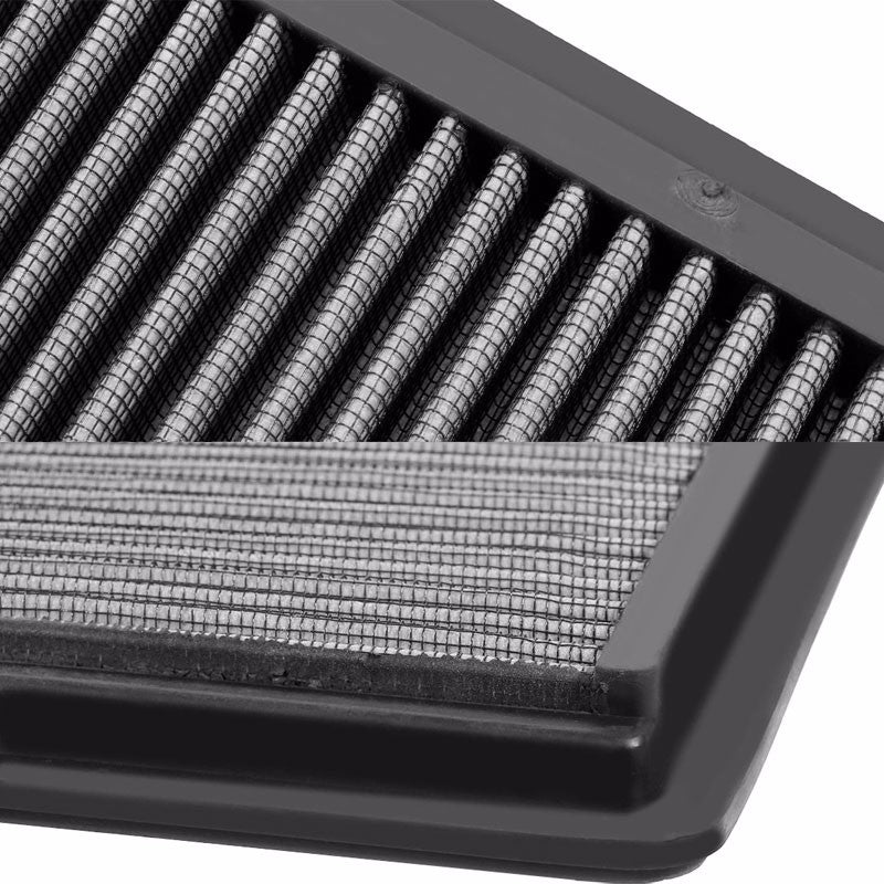 Reusable Silver High Flow Drop-In Panel Air Filter For Ford 05-10 Mustang 4.0L-Performance-BuildFastCar