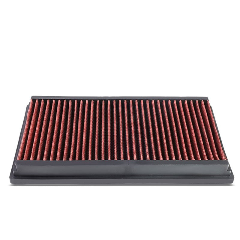 Red High Flow Washable/Reusable Drop-In Panel Air Filter For 10-17 Jaguar XJ-Performance-BuildFastCar