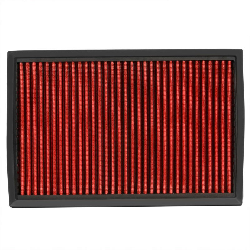 Reusable Red High Flow Drop-In Panel Air Filter For Ford 92-11 Crown Victoria-Performance-BuildFastCar