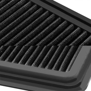 Reusable Black High Flow Drop-In Panel Air Filter For Mazda 11-14 2 1.5L 4-DR-Performance-BuildFastCar