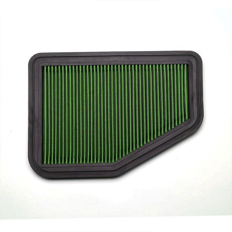 Green Washable/Reusable Airbox Drop-In Panel Air Filter For 11-17 Chevy Caprice-Performance-BuildFastCar