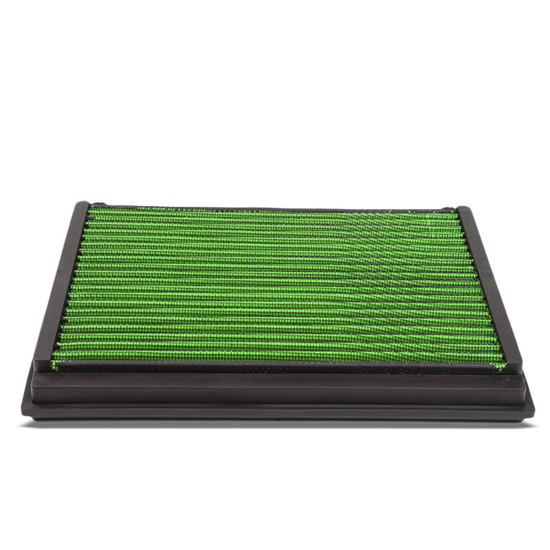 Green High Flow Washable/Reusable Drop-In Panel Air Filter For 05-11 Volvo S40-Performance-BuildFastCar