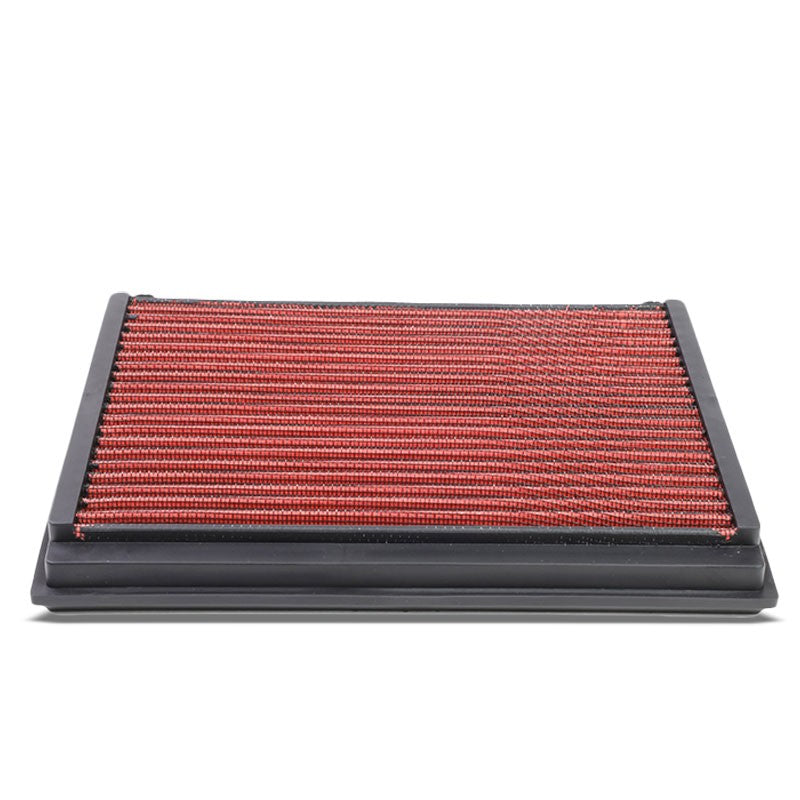 Red High Flow Washable/Reuse Drop-In Panel Air Filter For 06-13 Volvo C70 2.5L-Performance-BuildFastCar