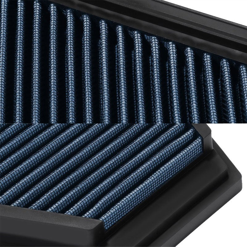Reusable Blue High Flow Drop-In Panel Air Filter For BMW 09-13 328i xDrive 3.0L-Performance-BuildFastCar