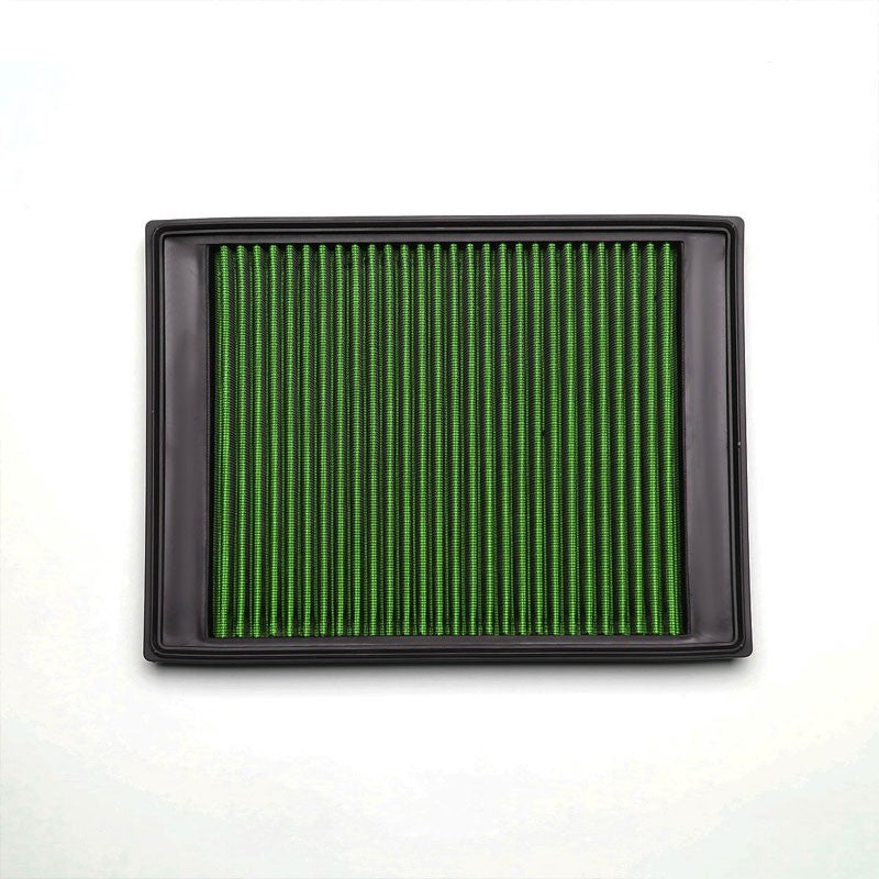 Green High Flow Washable/Reuse Drop-In Panel Air Filter For 05-09 LR3 4.0L/4.4L-Performance-BuildFastCar