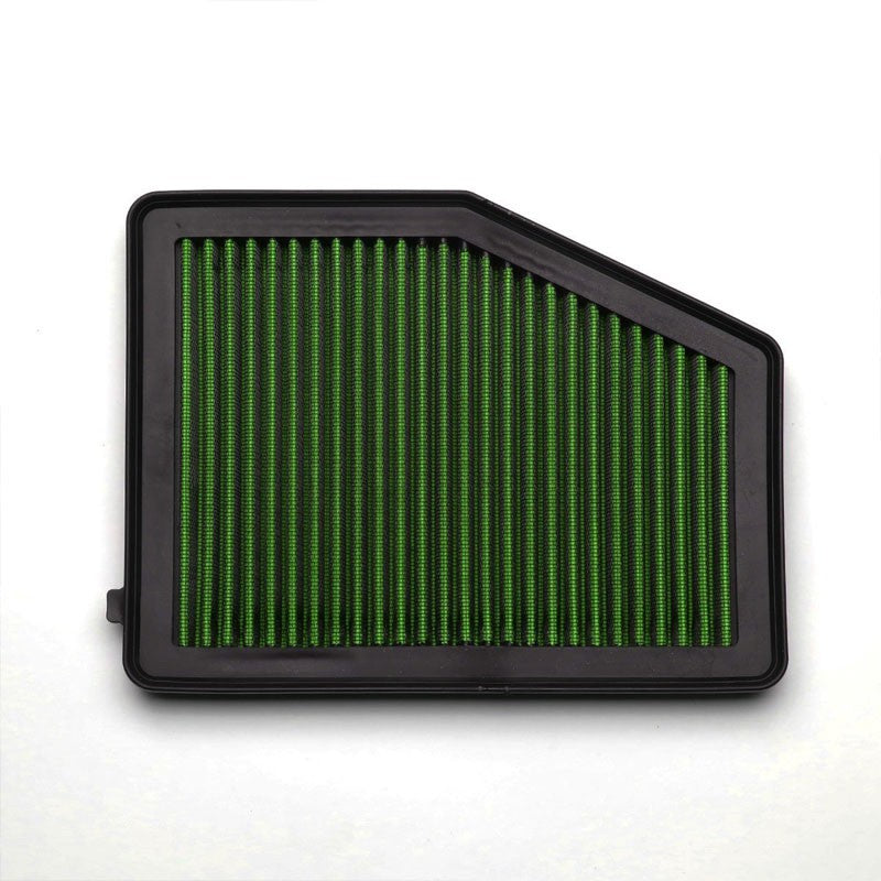 Green High Flow Washable/Reusable Drop-In Panel Air Filter For 12-15 Civic 1.8L-Performance-BuildFastCar