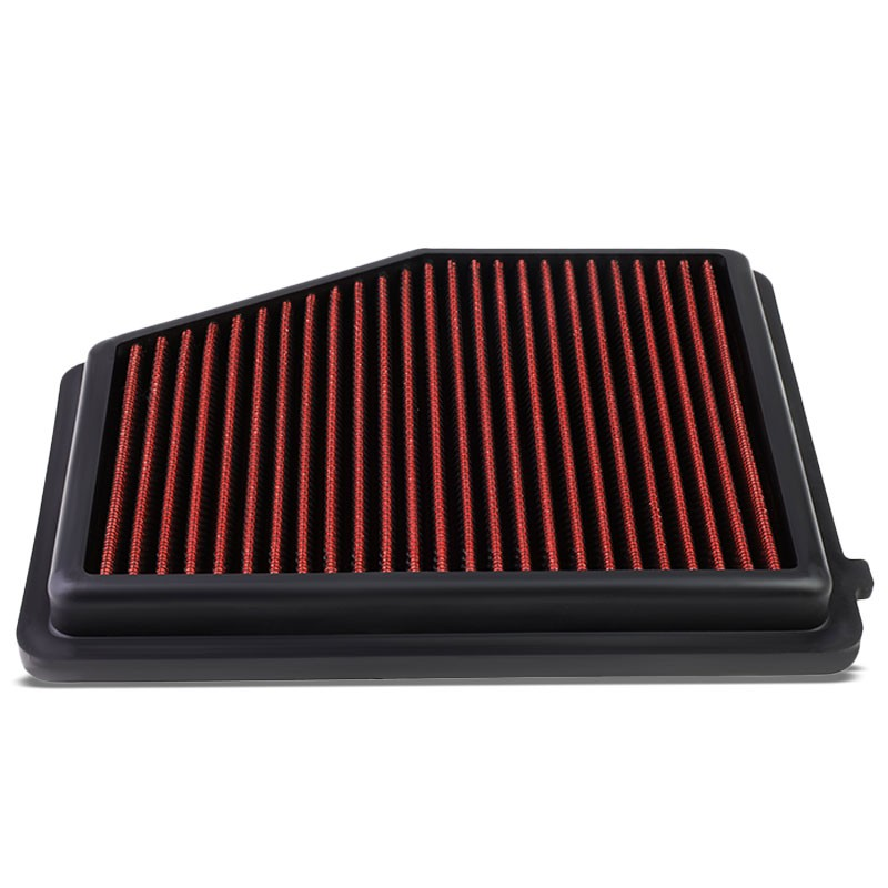 Red High Flow Washable/Reusable Drop-In Panel Air Filter For 13-15 ILX 2.0L-Performance-BuildFastCar