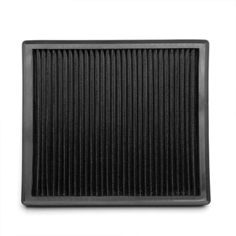 Black High Flow Washable/Reusable Drop-In Panel Air Filter For 11-15 Regal-Performance-BuildFastCar