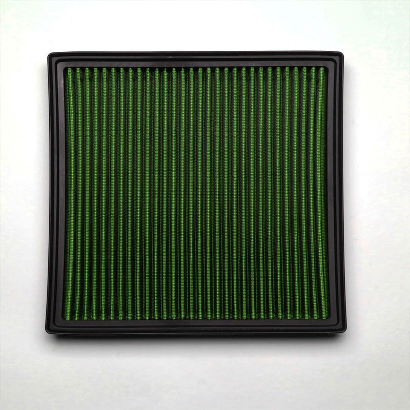 Green High Flow Washable Airbox Drop-In Panel Air Filter For 15-17 X4 3.0L Turbo-Performance-BuildFastCar