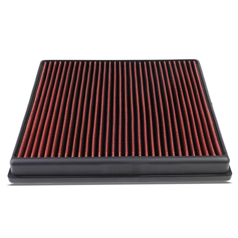 Red High Flow Washable Airbox Drop-In Panel Air Filter For 14-17 X5 3.0L Turbo-Performance-BuildFastCar