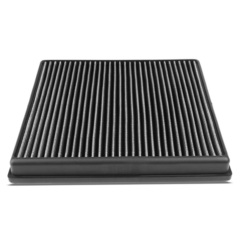 Silver High Flow Washable Airbox DropIn Panel Air Filter For 08-17 X6 3.0L Turbo-Performance-BuildFastCar