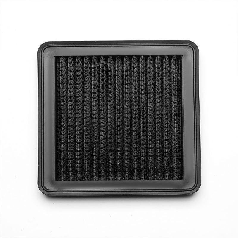 Black High Flow Washable Airbox Drop-In Panel Air Filter For 09-13 Honda FIT 1.5-Performance-BuildFastCar