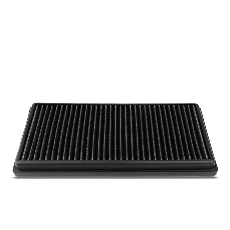 Black High Flow Washable Airbox Drop-In Panel Air Filter For 08-15 C63 AMG 6.3L-Performance-BuildFastCar