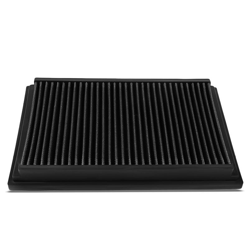 Black High Flow Washable Airbox Drop-In Panel Air Filter For 04-13 Mazda 3-Performance-BuildFastCar