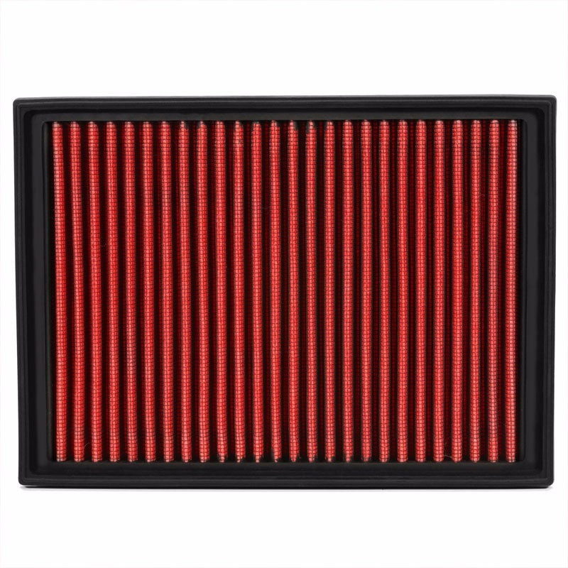 Reusable Red Cotton High Flow Drop-In Panel Air Filter For BMW 01-06 330Ci 3.0L-Performance-BuildFastCar