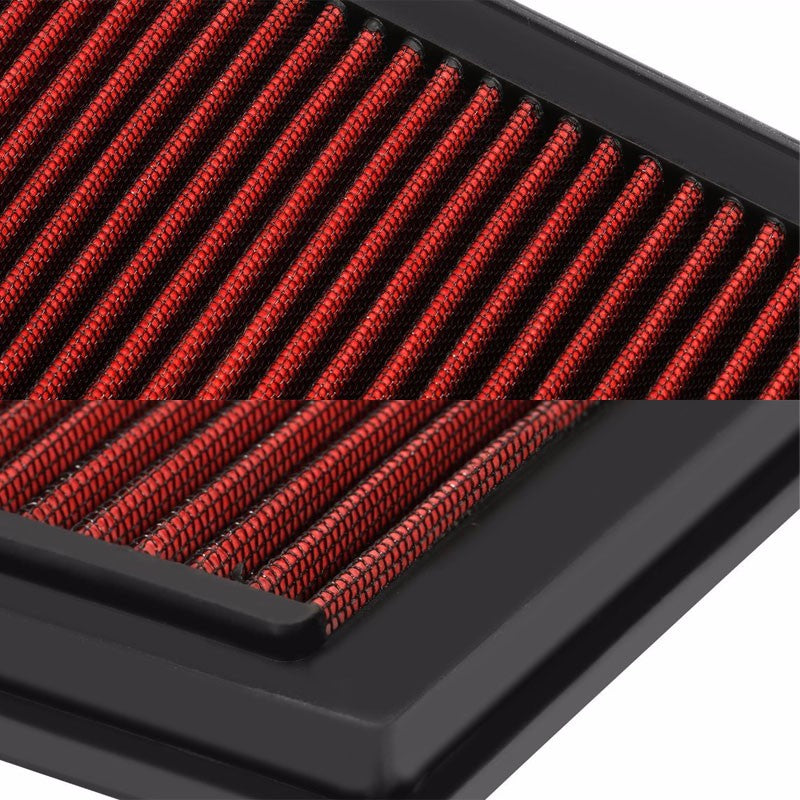 Reusable Red High Flow Drop-In Panel Air Filter For Subaru 96-04 Legacy 2.2L-Performance-BuildFastCar