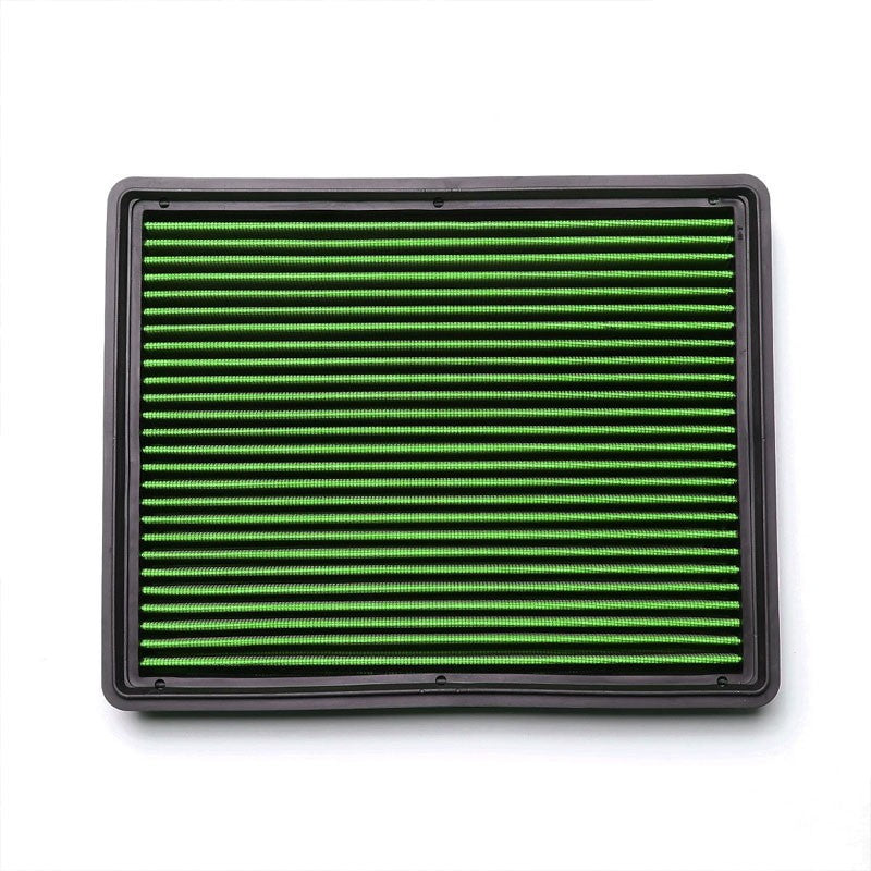 Green High Flow Washable Airbox DropIn Panel Air Filter For 04-17 Silverado 1500-Performance-BuildFastCar