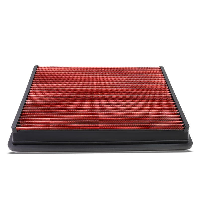 Red High Flow Washable AirboxDropIn Panel Air Filter For 04-16 Silverado 2500 HD-Performance-BuildFastCar