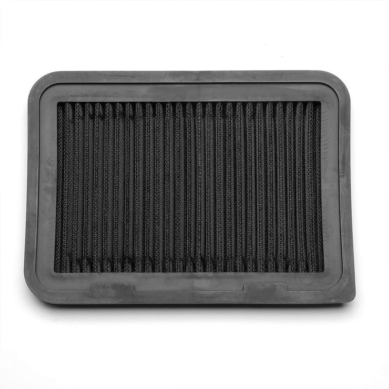Black High Flow Washable Airbox Drop-In Panel Air Filter For 09-10 Vibe 1.8L-Performance-BuildFastCar