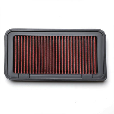 Red Performance Washable/Reuse Airbox Drop-In Panel Air Filter For 03-08 Corolla-Performance-BuildFastCar