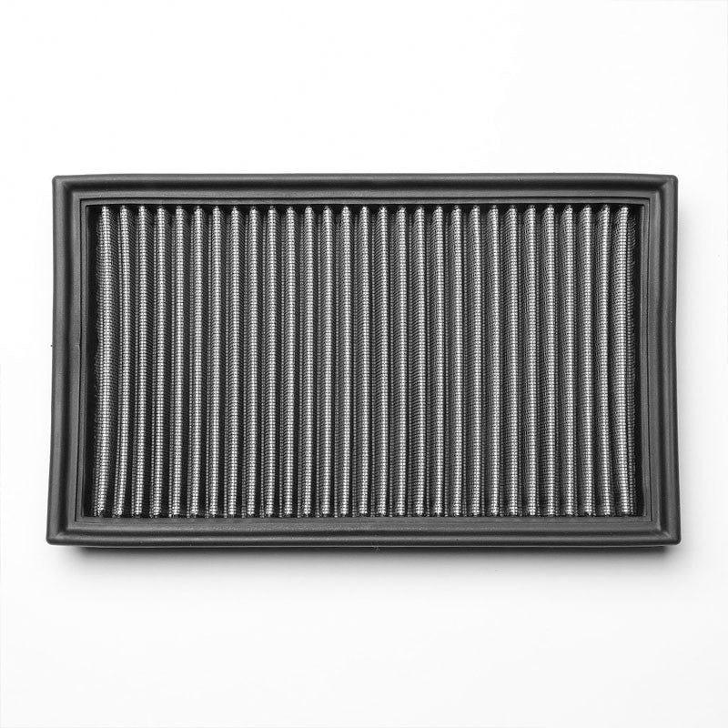 Silver High Flow Cotton Washable/Reusable Drop-In Panel Air Filter For 91-02 G20-Performance-BuildFastCar
