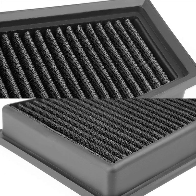 Blue High Flow Washable Airbox Drop-In Panel Air Filter For 15-17 CLA180 1.6L