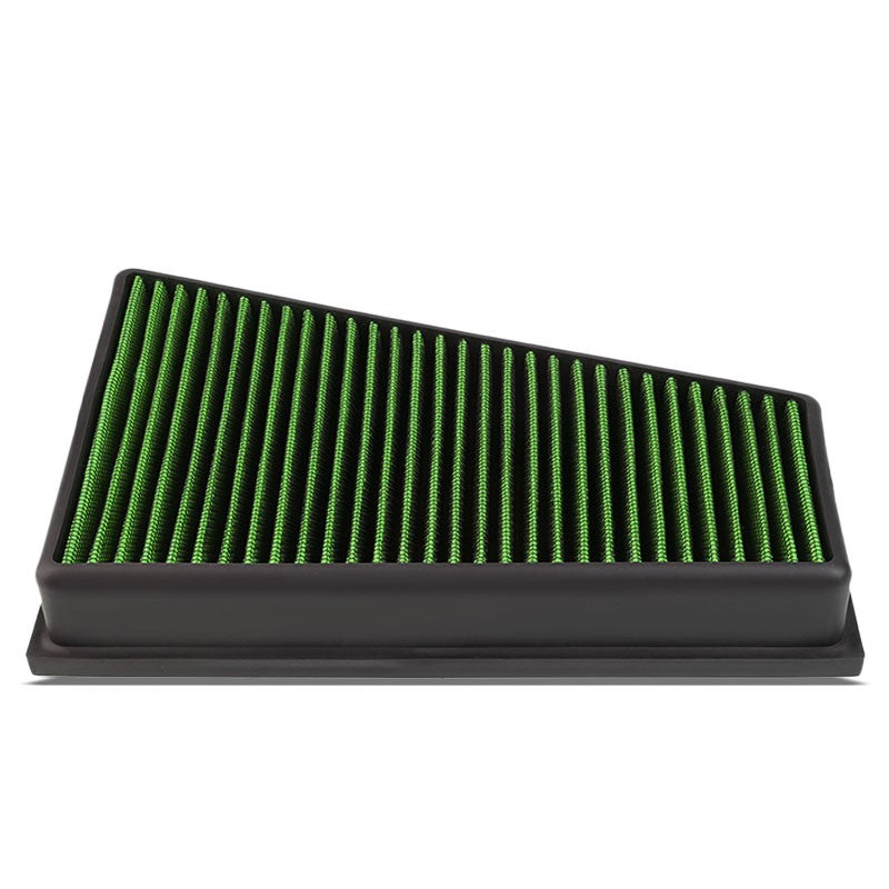 Green High Flow Washable Drop-In Panel Air Filter For 14-17 GLA200 1.6L 2.0L-Performance-BuildFastCar