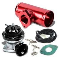 "Black Type-RS Turbo Intercooler 30 PSI Blow Off Valve BOV+Red 2.5""OD Flange Pipe-Performance-BuildFastCar"