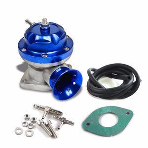 "Blue Type-RS Turbo Turbocharger Blow Off Valve BOV+Red 8"" Curve Flange Pipe-Performance-BuildFastCar"