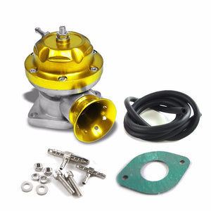 "Gold Type-RS 30PSI Turbo Blow Off Valve BOV+Black 9.5""L Dual Port Flange Pipe-Performance-BuildFastCar"