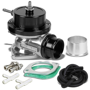 "Type-S Turbo 30PSI Blow Off Valve BOV BLK+Red 2.5"" Flange Adapter 80D Curve Pipe-Performance-BuildFastCar"