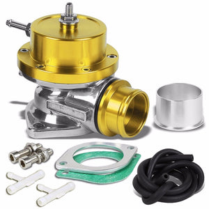 "Type-S/RS/RZ 30 PSI Turbo Blow Off Valve BOV+9""L Flange Dual Port Pipe Gold/Red-Performance-BuildFastCar"