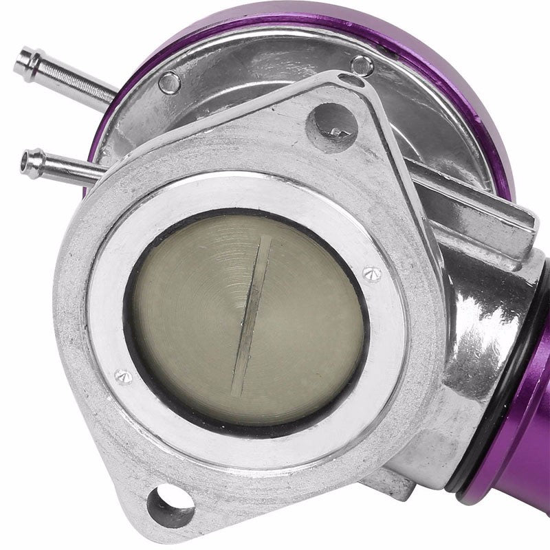 "Type-S Turbo 30PSI Blow Off Valve BOV PP+Silver 2.5"" Flange Adapter Curve Pipe-Performance-BuildFastCar"