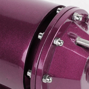 Purple Aluminum SSQV/SQV Blow Off Valve TYA2+Black Straight Port BOV Flange Pipe-Performance-BuildFastCar