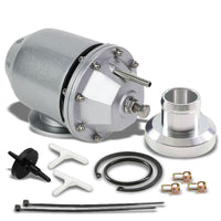 "Silver SSQV/SQV Adjust 30 PSI Turbo Blow Off Valve A2+Black 8"" BOV Flange Pipe-Performance-BuildFastCar"