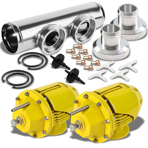 "Gold SSQV Adjust PSI Turbo Blow Off Valve BOV+Silver 9.5"" Straight Flange Pipe-Performance-BuildFastCar"