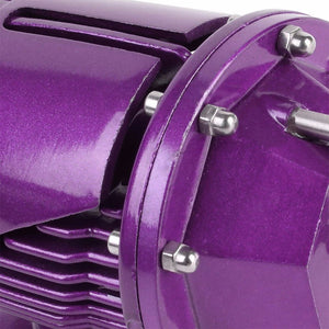Purple SSQV Anodized 30PSI Turbo Blow Off Valve BOV+Red Dual Port Flange Pipe-Performance-BuildFastCar